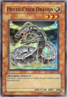 Yugioh Proto-Cyber Dragon DR04-EN130 Super Rare Near Mint