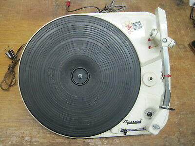 #2 Garrard 4HF(L) Turntable Working  Shuts off too early No Cart 110V Schd.55640