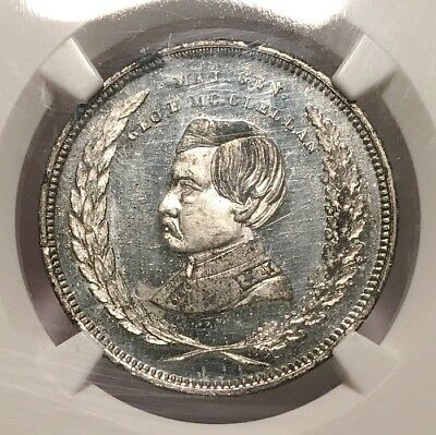Political GMcC 1864-14 WM NGC MS-65 PL - Peoples Choice - no hole for suspension