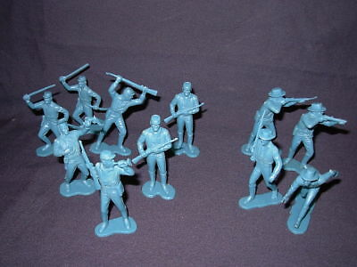 Marx Civil War Figures 1967 marked Marx Lot of 11 Blue