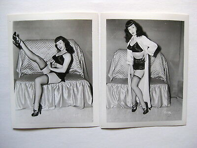 """Bettie Page   Irving Klaw photos   lot of 2    (4"""" x 5"""")"""