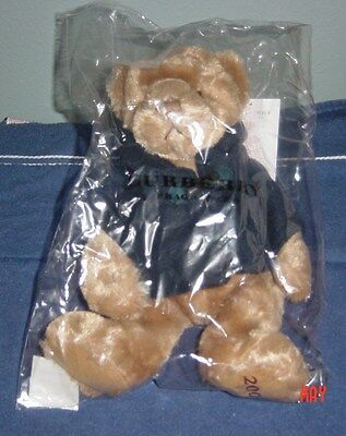 """NIB & """"WITH THE TAG"""" 2009 BURBERRY Teddy Bear w/ Navy Blue Jacket-Great Gift"""