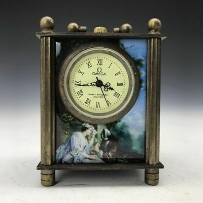 Collection of ancient mechanical clocks and watches inlay cloisonne