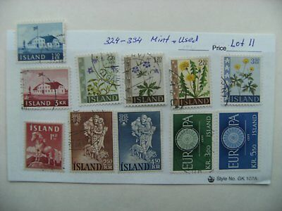 Stamps. Iceland. 324-334. Mint &Used. Lot 11.