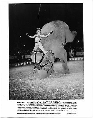 "1989 - Cole Bros Circus ""Elephant Break Dancing""  Publicity Photo"