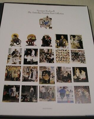 "20 NORMAN ROCKWELL PRINTS-THE SATURDAY EVENING POST COLLECTION 16"" X 20"" Mint"