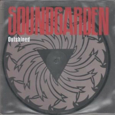 """SOUNDGARDEN Outshined 7"""" VINYL UK A&M 1992 Limited Edition Pic Disc With"""