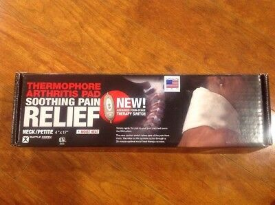 """Thermophore Arthritis Pad Soothing Pain Relief Neck Petite 4""""x17"""" Heating Pad"""