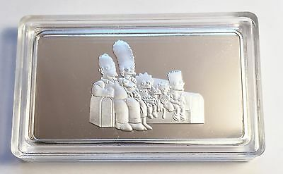"""New """"The Simpsons"""" HSE Silver Edition 1 Troy Oz Ingot, Limited to only 500"""