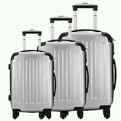 3Pcs Luggage Travel Set Bag w/TSA Lock ABS Trolley Spinner Carry On Suitcase A