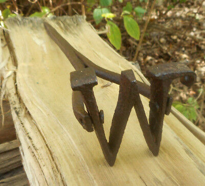 Antique Hand Forged Branding Iron Blacksmith vintage Western Cowboy