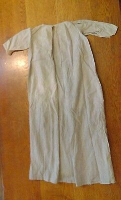 c1920 vintage baby gown, christening gown,  off white and blue