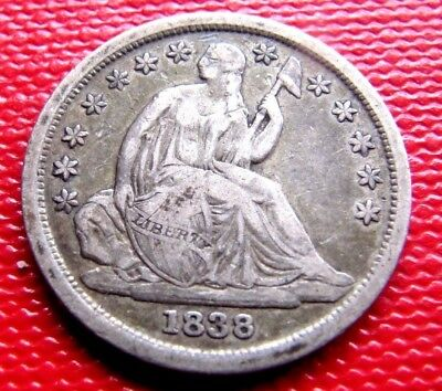 1838 Liberty Seated Dime, VF+