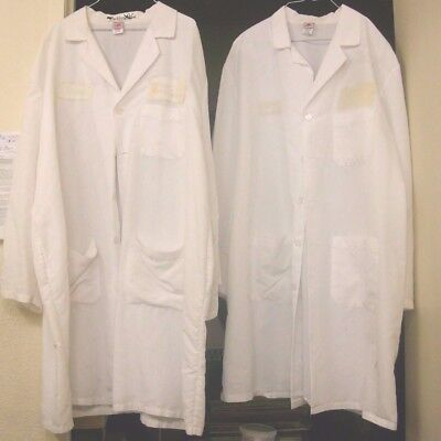 """Halloween Lab Coats Size XL Men's White Long Length 40"""" $5.00 Each Used"""