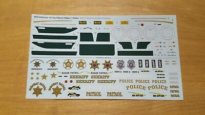 Revell 1/25 1957 FORD DEL RIO RANCH WAGON DECAL SHEET