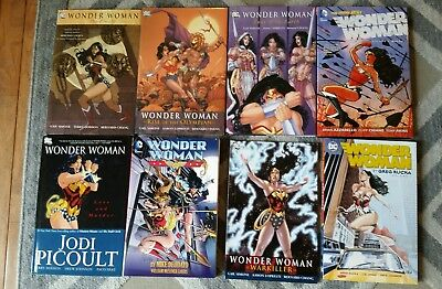 Wonder Woman TPB HC OOP collection lot of 8 tpb's and hardcovers Beautiful books