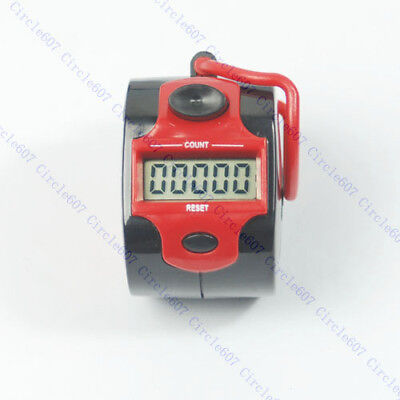 5 Digit LCD Mini Electronic Digital Golf Finger Hand Ring Tally Counter 45 x32mm