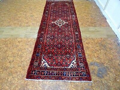 Exquisite 1950's Authentic Mint Hand Made Persian Hamedan Runner Rug