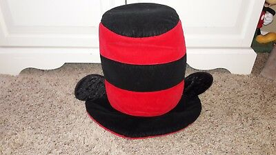 Disney Park Goofy's Hat Co. Mickey Mouse Ears Top Hat Red Black Adult Size