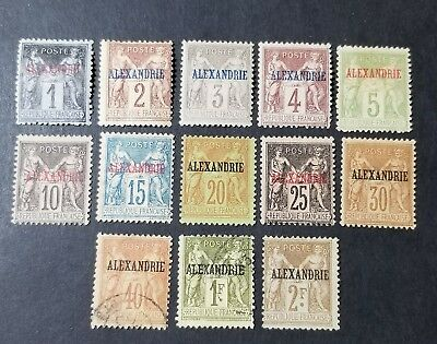 France/Offices in Egypt Alexandria Stamps sc#1-15 MINT/USED cv$325 (2960)