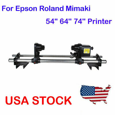 Auto Media Take up Reel Roller System Paper Controller For Epson Roland Mimaki