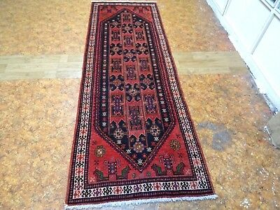 Exquisite 1950's Authentic Mint Hand Made Persian Baluch Runner Rug