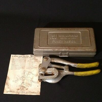 Roper Whitney, Inc. Whitney Hand Punch No. 5 Jr. Die Set Complete Case