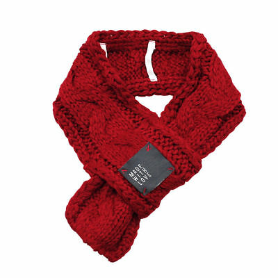 Red Knitted Dog Scarf Collar Neckerchief Pet Puppy Cat Winter Neck Warmer Gift