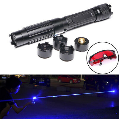 Thor M2 High Power 450nm Blue Laser Pointer Torch Burning Paper + 5 Star Cap