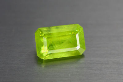 2.650ct EXCELLENT NATURAL EARTH MINED RARE 3A GREEN COLOR SPHENE TITANITE RUSSIA