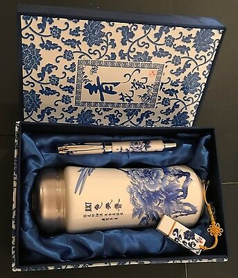 Authentic Chinese Gift set With Tea strainer and container,Flash Drive and Pen**