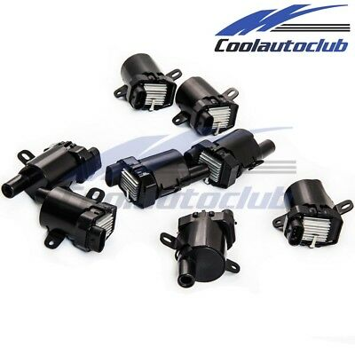 New Set of 8 Ignition Coils For Chevrolet Buick Cadillac GMC UF262 D585