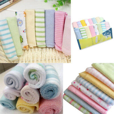 8Pcs/Pack Infant Newborn Baby Soft Bath Towel Washcloth Feeding Wipe Bibs Cloth