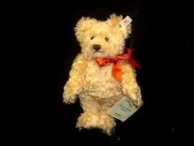 New with Tag 10th anniversary Steiff KNOPF IM OHR Teddy Bear ZEHN Genuine Mohair
