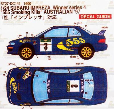 Studio27 DC141 1/24 SUBARU Impreza WRC Smoking Kills Australian '97 Decal Tamiya