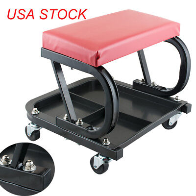 Mechanic Padded Creeper Trolley Seat Car Van Garage Tool Workshop Stool SAFE USE