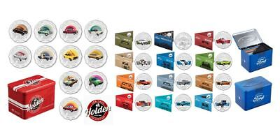 2017 50c FORD HERITAGE COLLECTION 12 COINS + 2016 50c HOLDEN HERITAGE 11 COINS
