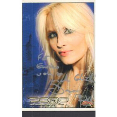 DORO Warrior Soul CARD German Afm 2006 Promo Postcard Signed On Front Album
