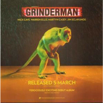 "GRINDERMAN S/T CARD UK Mute 2007 11""X11"" Promo Display Card For Album"
