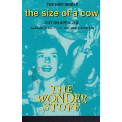 WONDER STUFF Size Of A Cow CARD UK Far Out 1991 Used Colour Promo Postcard For