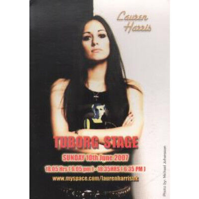 LAUREN HARRIS Tuborg Stage CARD UK 2007 Double-Sided A6 Promo Postcard For Live