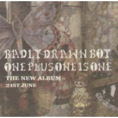 BADLY DRAWN BOY One Plus One Is One BEERMAT UK Full Colour Double Sided Promo