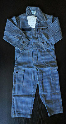 Boy's Denim One-Piece Jumpsuits Bodysuits Overall Coverall, Size 4-5 (100-110cm)
