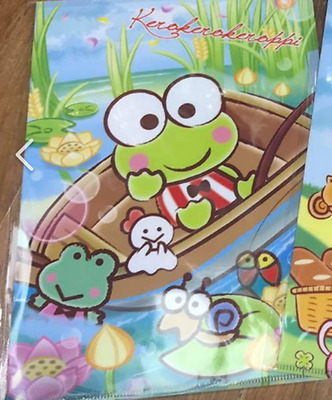 2017 Sanrio Keroppi Frog A4 File Folder Stationery~ NEW Free Shipping