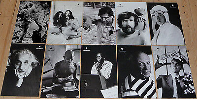 "Set of 10 mint APPLE POSTERS THINK DIFFERENT * 17/11"" EDUCATIONAL SET Steve Jobs"