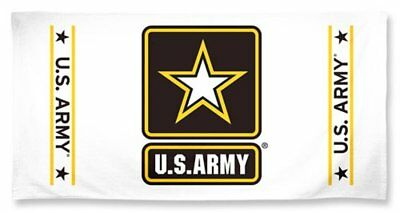 US Army Official Military 27X50 inch Cotton Logo Full Color Beach Towel NEW