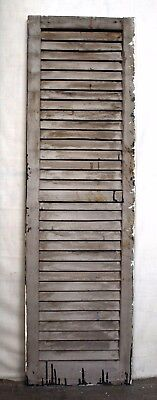 "16""x55"" Antique Vintage Old SOLID Wood Wooden Window House Shutter Louver Door"