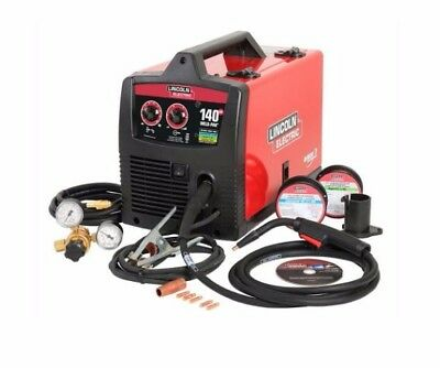 Lincoln Electric MIG 140amp Welder-120V wire feed machine flux #K2514-1