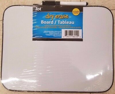 Dry Erase White Board With Marker.