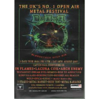BLOODSTOCK 2007 S/T FLYER UK 2007 A5 Single-Sided Flyer For Uk Metal Festival